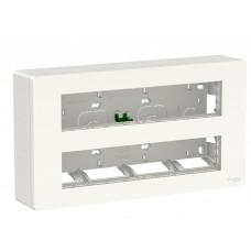 Антибактериальная установочная коробка Schneider Electric NU121020 Unica System+ 2х5