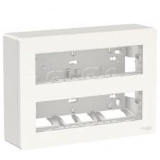Антибактериальная установочная коробка Schneider Electric NU121820 Unica System+ 2х4