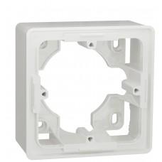 Однопостовая коробка Schneider Electric NU800218 Studio для открытой установки (белая)