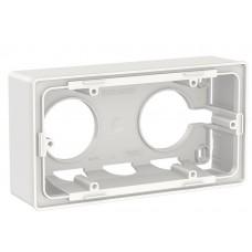 Двухпостовая коробка Schneider Electric NU800418 для открытой установки (белая)