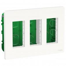 Встраиваемая установочная коробка Schneider Electric NU173418 Unica System+ 3х2 (белый)