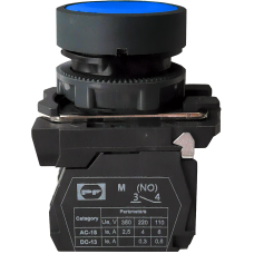 Выключатель кнопочный FP PCP Pl 1NO голубой