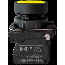 Выключатель кнопочный FP PCP Pl 1NO желтый