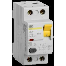 ПЗВ (пристрій захисн. відкл.) ВД1-63 2Р 25А 30мА IEK