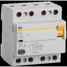 ПЗВ (пристрій захисн. відкл.) ВД1-63 4Р 40А 30мА IEK