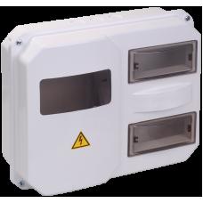 Корпус пласт. ЩУРн-П 1/12 для 1-ф лічильника навісний 270х330х110 IP55
