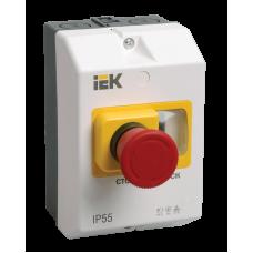 """Захисна оболонка з кнопкою """"Стоп"""" IP55 IEK"""
