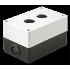 Корпус КП102 для кнопок 2місця білий IEK