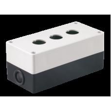 Корпус КП103 для кнопок 3місця білий IEK