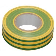 Ізоляційна стрічка 0,13х15 мм жовто-зелена 10 метрів IEK