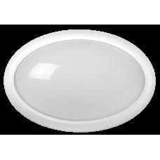 Світильник світлодіодний ДПО 3040Д 12Вт 4500K IP54 овал білий пластик з ДД IEK