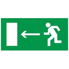 """Самокл. етик. 100х50мм """"Напр. до евак. виходу наліво"""""""