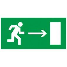 """Самокл. етик. 200х100мм """"Напр. до евак. виходу направо"""""""