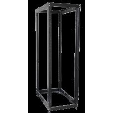 """ITK 19"""" дворамна стійка, 24U, 600x800 мм, чорна"""