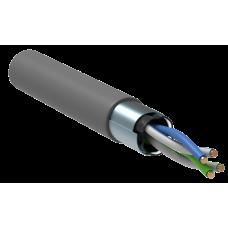 ITK Кабель зв'язку вита пара F/UTP, кат.5E 2х2х24(0,51мм)AWG solid, PVC, 500м, сірий