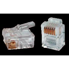ITK Роз'єм RJ12 UTP для кабеля кат.3 6P4C