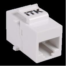 ITK Прохідний адаптер кат.5e UTP, RJ45-RJ45, тип Keystone Jack