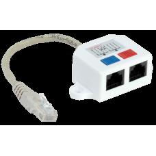 ITK Розгалужувач (Y-адаптер) кат.5Е 1RJ45-2xRJ45, білий