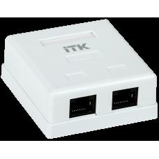ITK Настінна інформаційна розетка RJ45, кат.6, 2-порта