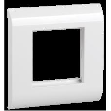 ITK Лицьова рамка для мод. Mosaic, 80х80мм, біла