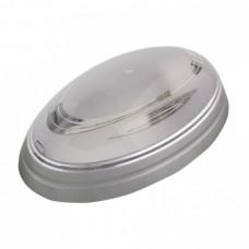 Светильник пластиковый Овал Нинова серебряный
