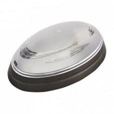 Светильник пластиковый Овал Нинова дымчатый