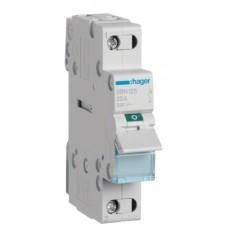 Выключатель нагрузки Hager SBN125 1P 25А/230В 1м