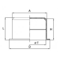 Заглушка для труб гофрированных 20 мм, IP40, DKC