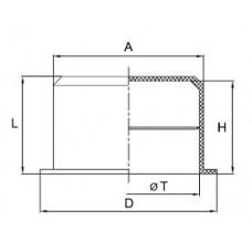 Заглушка для труб гофрированных 25 мм, IP40, DKC