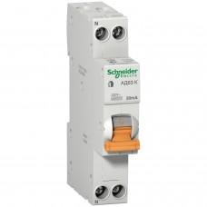 Дифавтомат Schneider Electric АД63К 1P+N 20A 30mА C 18мм