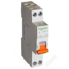 Диф автомат Schneider Electric АД63К 1P+N 25A 30mА C 18мм